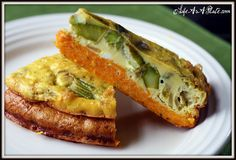 Asparagus Quiche with a Savory Sweet Potato Crust