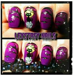 halloween by lexstasynails Nail Art Designs, Holiday Nail Designs, Halloween Nail Designs, Holiday Nail Art, Creative Nail Designs, Halloween Nail Art, Nail Polish Designs, Christmas Nail Art, Creative Nails
