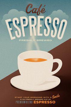 Cafe Espresso Poster - Art Print