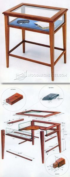 Display Table Plans - Furniture Plans and Projects   WoodArchivist.com