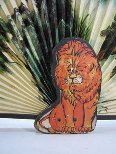 Vintage 1970's Jungle Print Paper Hand Fan With by TurnerVintage