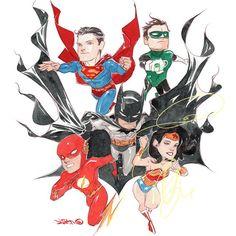 LiIL JLA - Dustin Nguyen I would like a cape as majestic as Batman's, and a figure like Wonder Woman's.  >^..^<