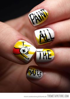funny-all-the-things-nails