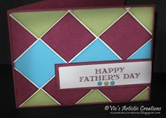 Vic's Artistic Creations-Vicki Hunter-Independent Stampin' Up Demonstrator: PPA263 - Another Father's Day Card Idea