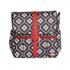 JJ Cole® Backpack Diaper Bag in Black Floret - buybuyBaby.com