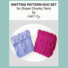 Ula Cushion Duo Knitting Pattern
