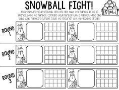 snowball fight freebie page!
