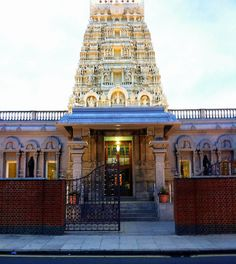 The gorgeous Sri Murugan Temple, East Ham, London. My regular bus used to drive right past. :)