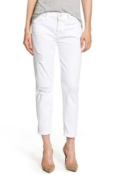 7 For All Mankind® 'Josefina' Boyfriend Jeans (Clean White) available at #Nordstrom