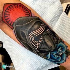 Beautiful Kylo Ren tattoo by @jamesmullintattoos!