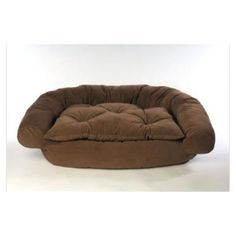 d27078fee865 I m learning all about Hayneedle Habitats Faux Suede Comfort Couch Dog Bed  In Brown