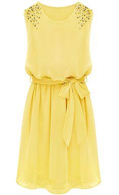 Yellow Sleeveless Sundress