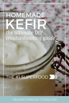 Trouble with your kefir? Heres how to master your homemade kefir and finally do it right! - Diy Healthy Home Remedies Healthy Food Quotes, Healthy Food List, Healthy Drinks, Healthy Foods, Kefir Recipes, Milk Recipes, Probiotic Foods, Fermented Foods, Kefir How To Make
