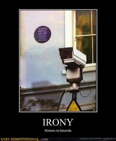 very ironic!!  Orwell's house with a security camera.