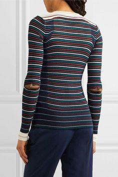 Sonia Rykiel - Striped Cotton-blend Sweater - Navy - x small