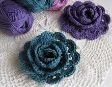 Virkatun ruusun ohje / Pattern for Crochet rose