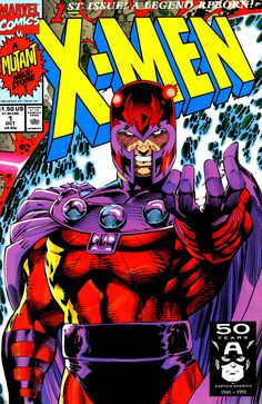 """""""Magneto"""" cover/ Cover D of X-Men #1   1991   Art by Jim Lee"""