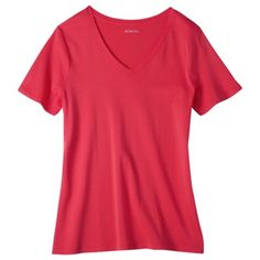 40f42e4cad0 Merona® Women s Short-Sleeve V-Neck Tee - Assorted Colors. Plus Size ...