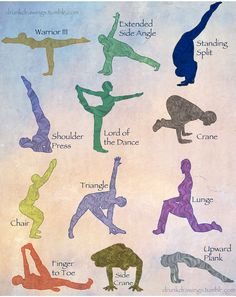 Yoga poses  to get rid of back and neck pain .. I have this but I think I'd need to become flexible enough to actually do them first!