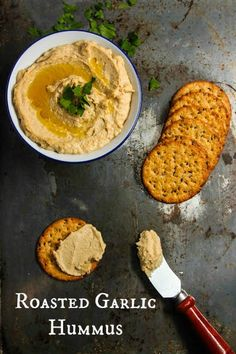 Roasted Garlic Hummus Recipe - The Corner Kitchen – ENJI Daily #vegan #glutenfree