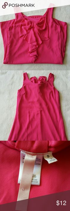 Hot pink bow shift dress Super cute and comfy tank top dress with bow in the back Dresses