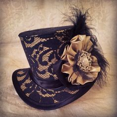 Mad Hatter Alice in Wonderland Steampunk Hat by OohLaLaBoudoir