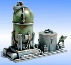 FRP GAMES - PRODUCT - Sci-Fi Terrain: Modular Refinery 6 (3 pieces)