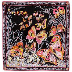 EMILIO PUCCI, scarf.. - Vintage och Juveler, Stockholm S200 – Bukowskis Emilio Pucci, Butterfly Scarf, Scarf Design, Pretty Patterns, Fabric Painting, Silk Scarves, Colorful Fashion, Painting Inspiration, Prints