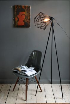 grey wall - love the dsw eames chair too!