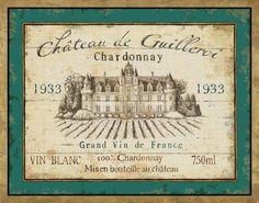 French Wine Label IV Art Print