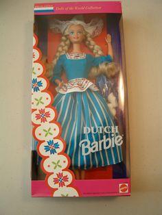 NEW Dutch Barbie Dolls OF THE World 1993 Special Edition 11104 NRFB MIB   eBay Disney Barbie Dolls, Barbie 80s, Vintage Barbie Dolls, Barbie And Ken, Frozen Drawings, Christmas Barbie, Beautiful Barbie Dolls, Barbie Collector, Stripes Fashion
