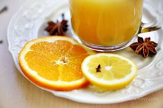 Cold remedy hot orange drink recipe by Zoom Yummy! Sounds like a good idea to me.