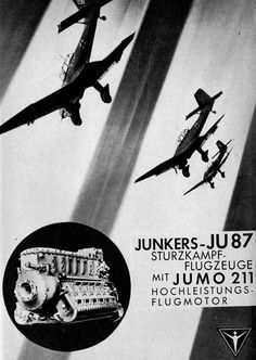 Junkers-JU 87 with aircraft engine JUMO 211.