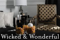 #BallCandles #SphereCandles #Black #White #CAndles #Halloweed #HomeDecor Amazing Weddings, White Candles, Candy Corn, Candle Holders, Black White, Home Decor, Black And White, Decoration Home, Room Decor