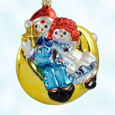 Kurt Adler Raggedy Ann and Andy Polish glass ornament would love to brighten your home