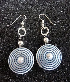 Creative recycling: earrings made with coffee capsules bialetti