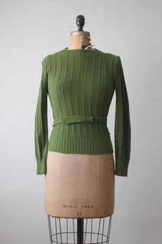 1950's belted garland sweater
