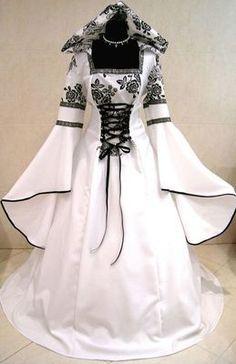 Mittelalter Gothic Kleid Hochzeit Kostüm 44 46 48 L XL XXL Karneval ...