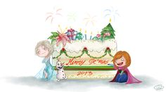 Frozen: Merry Christmas 2013 by Justsui on DeviantArt