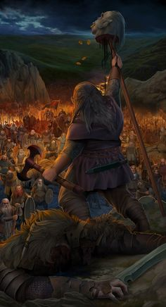 """What REALLY happened in The Hobbit: """"But Azog's victory was short-lived. He saw that the Orcs in the valley were being routed by the Dwarves, and he tried to flee back into Moria, but then Nain's son Dain Ironfoot slew Azog with his axe. Azog's head was cut off and put on a stake, and the bag of coins he had thrown at Nar was stuffed into his mouth. But although the Dwarves won the Battle of Azanulbizar they did not reclaim Moria, for they had suffered much loss and Dain had looked through…"""