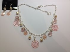 Pretty in Pink Button Necklace by BornAgainButtons on Etsy, $15.00