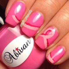 Breast Cancer Awareness by esp_nails  #nail #nails #nailart