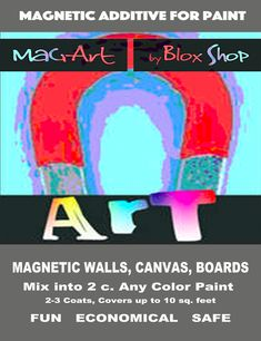 Did you know MagArt by BloxShop is selling their Magnetic Additive for Paint on ETSY now? Magnetic Paint, Chalk Paint, Dry Well, Painted Boards, Painters Tape, Looks Cool, Paint Ideas, Paint Colors, Magnets