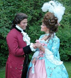 Crown Princess Victoria of Sweden and her husband Daniel dressed in 18th century garb for a relative's birthday party. You can bet there will be a blog post about this. Still can't believe it's not photoshopped.