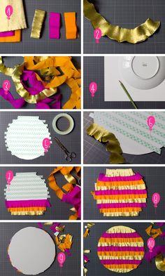Activit avec du papier cr pon activt s avec les enfants pinterest blog et bracelets - Activite avec papier crepon ...