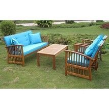 Outdoor Royal Furniture Settee Set Cushions 4 18-inch Throw Pillows Pati... - $1,259.99