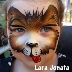brown puppy face paint by extemely face painting http://www.extremelyfacepainting.com.au/