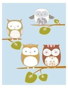 owls #bird #illustration