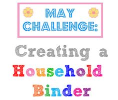 "Creating a Household Binder ""finance section"" SST #7"