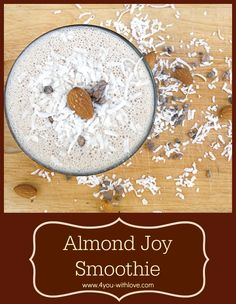almond joy inspired smoothie